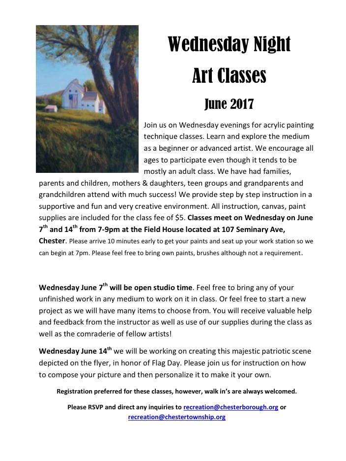 Acrylic Art class @ Field House | Chester | New Jersey | United States