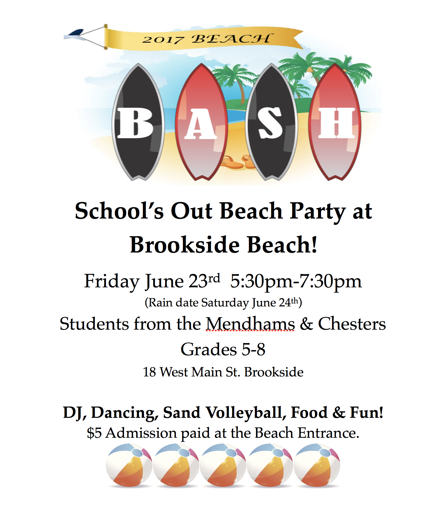 'School's Out' Beach Bash @ Brookside Beach