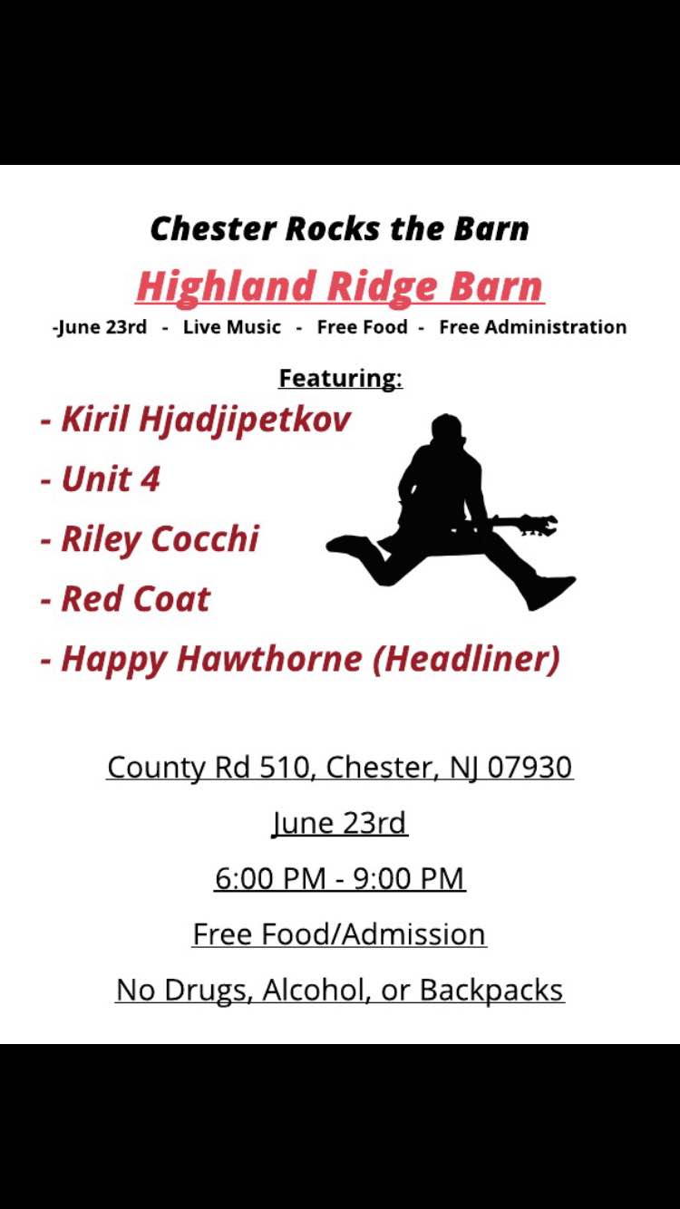 Chester Rocks the Barn @ Barn at Highlands Ridge Park | Chester | New Jersey | United States