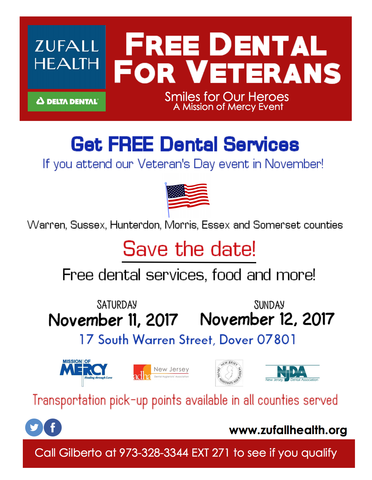 Free dental care for vets