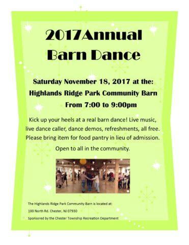 Annual Barn Dance @ Barn at Highlands Ridge Park | Chester | New Jersey | United States