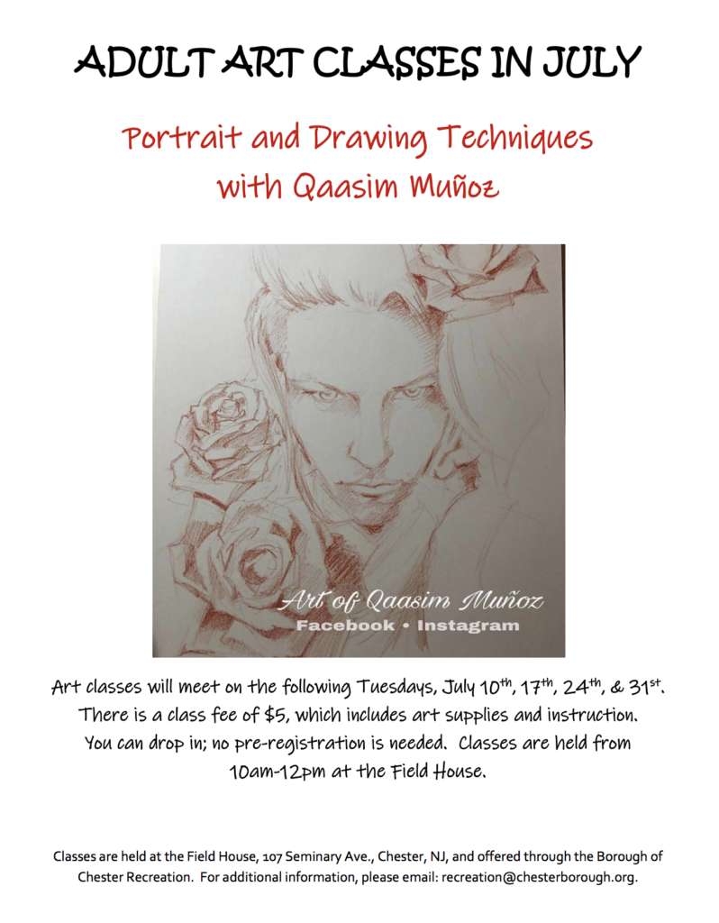 Portrait and Drawing Techniques @ Field House | Chester | New Jersey | United States