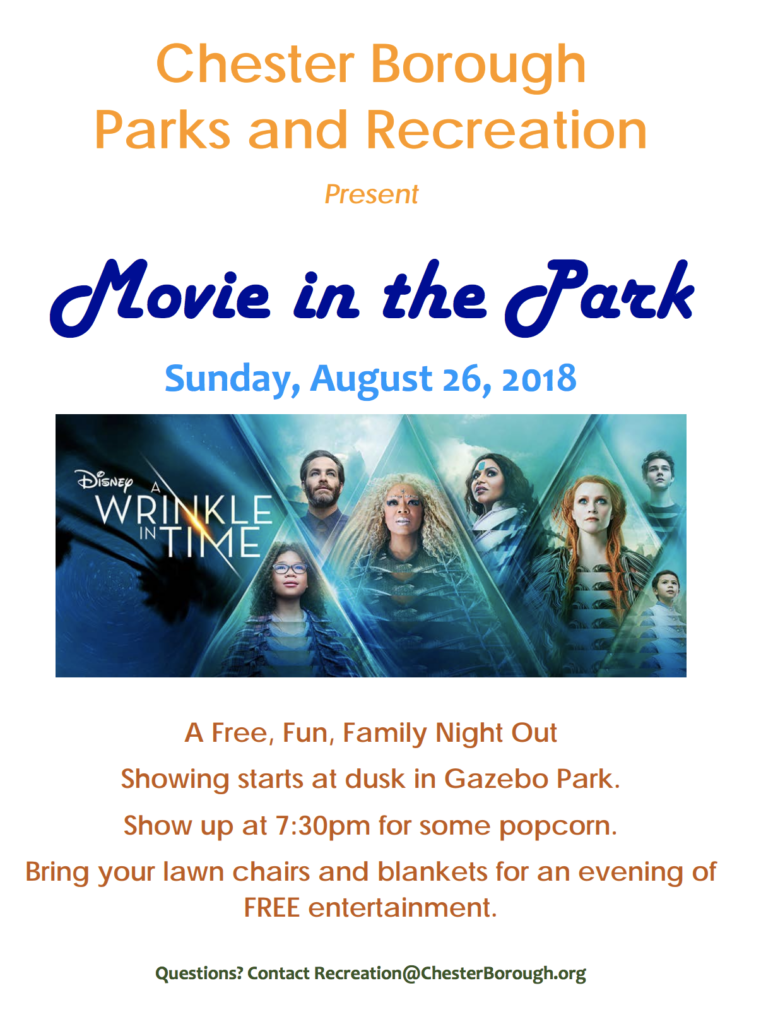 Movie in the Park - A Wrinkle in Time @ Municipal Field | Chester | New Jersey | United States