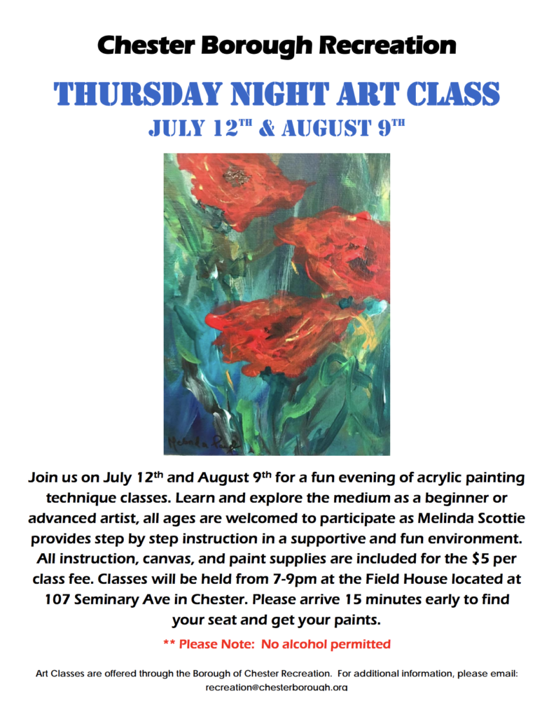 Thursday Night Art Class @ Field House | Chester | New Jersey | United States