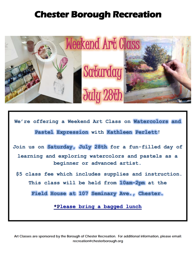 Weekend Art Class @ Field House | Chester | New Jersey | United States